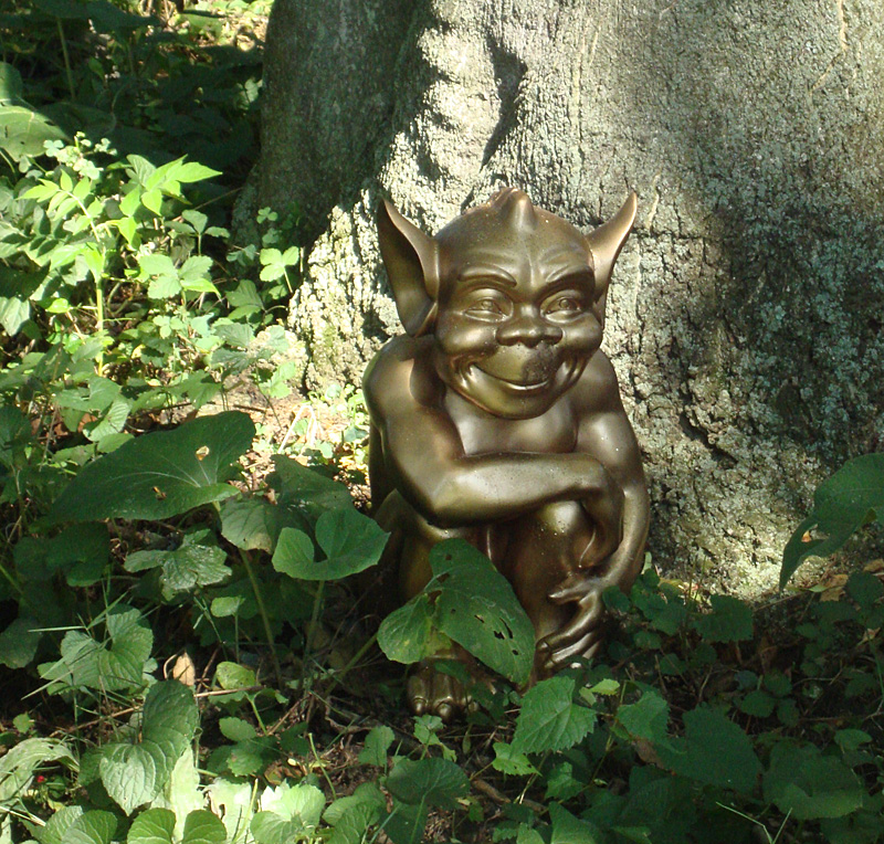 good luck gnome along the sensory trail of the Enchanted Forest