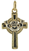 two tone claddagh cross
