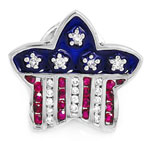 white gold diamond and ruby American Flag pin