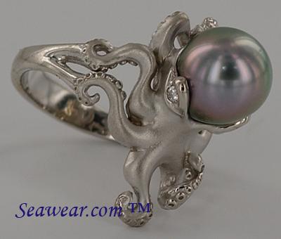 Seawear Amp Gold Octopus Ring
