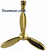 three bladed airplane propeller