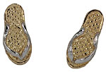 14k gold flip flop sandal slipper earrings