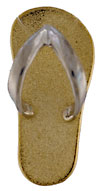 yellow gold flip flop with white gold strap