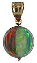 14kt and opal beach pall pendant charm