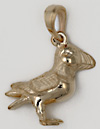 14kt puffin bird necklace pendant