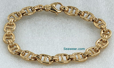 gold mariner link anchor braceleet