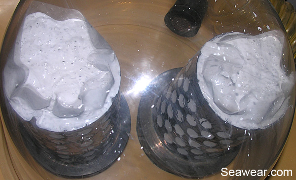 long vacuum of flasks to remove bubbles