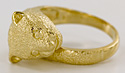 14kt size 6 cat jewelry ring