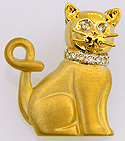 gold and diamonds top cat jewelry necklace slide pendant