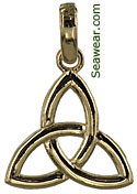 small trinity knot pendant necklace pendant or bracelet charm