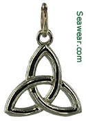 14kt white gold trinity knot necklace pendant