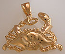 14k Chesapeake bay crab jewelry