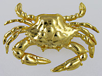 14kt large blue crab slide