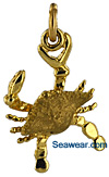 small blue crab necklace jewelry charm