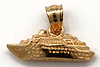 14kt gold small 3D full round cruis ship charm