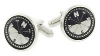 artificial horizon compass cufflinks