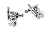 sterling silver statue of liberty cufflinks