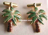 kokomo palm tree cuff links