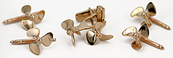 14kt propeller cufflinks and tuxedo studs