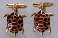 sea turtle cufflinks