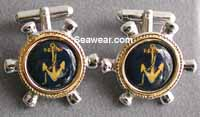 ships wheel yachting cufflinks