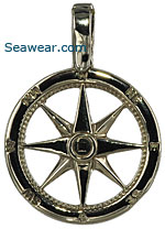 white gold compass rose jewelry