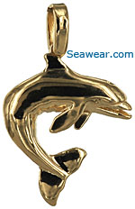 dolphin flipper with toothy smile necklace pendant charm
