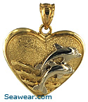heart with dolphin lovers