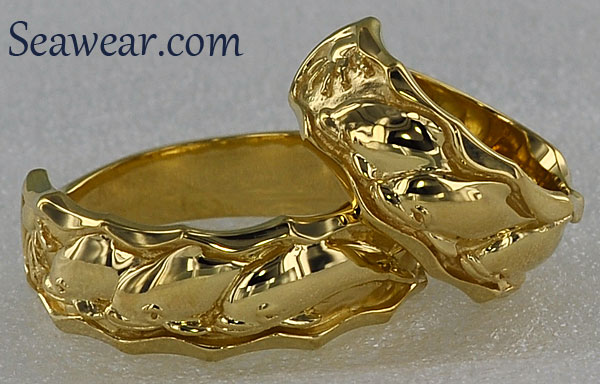 dolphin porpoise wedding bands