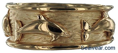 dolphin wedding band