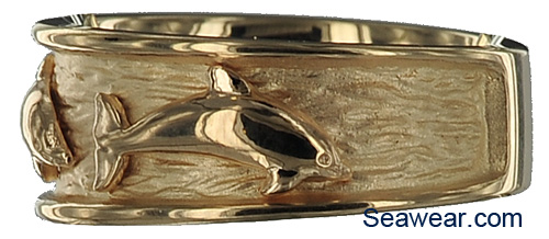 dolphin porpoise wedding band