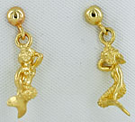 14kt mermaid earrings