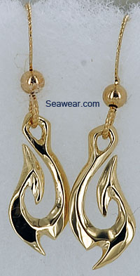 tribal hook dangle wire earrings