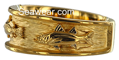 snook fish ring