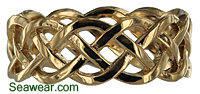 celtic woven eternity knot band