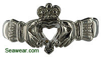 white gold Claddagh setting