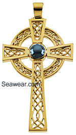 incredible Celtic cross with see thru knots