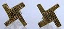14kt Saint Brigids cross earrings