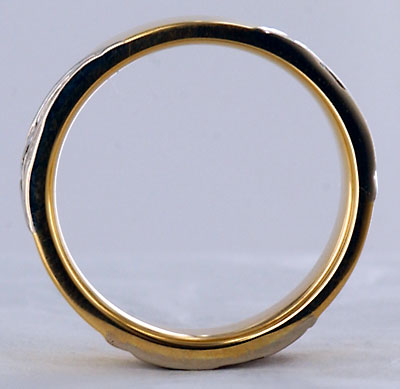 side view triple trinity knot wedding ring