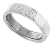 ladies trinity knot wedding band white gold