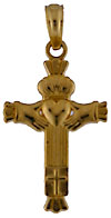 14kt small Claddagh cross for baby