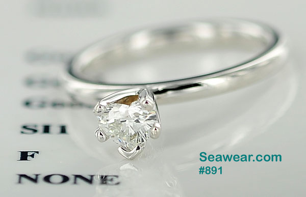 .40cts Claddagh heart diamond engagement ring