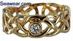 Celtic love knot engagement ring