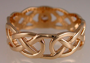 Celtic love knot diamond ring