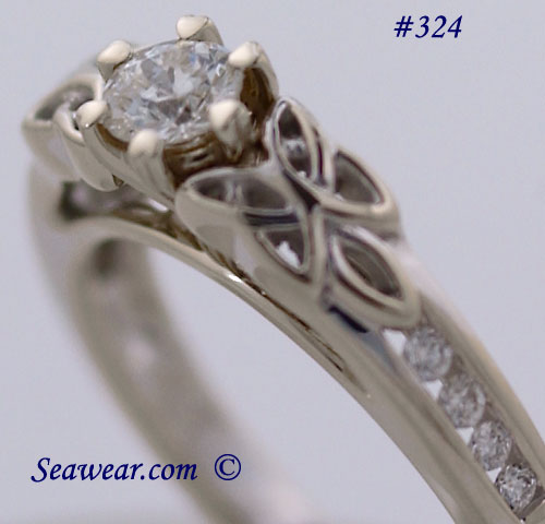 heart shaped prongs engagement ring