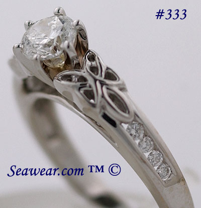 Celtic engagement rng with .70ct SI G diamond