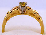 14kt Celtic engagement ring with .17ct VS yellow diamond