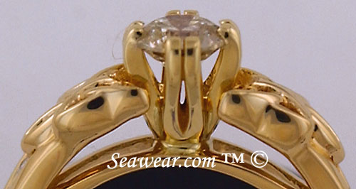 14kt Celtic engagement ring with 1/2 carat diamond