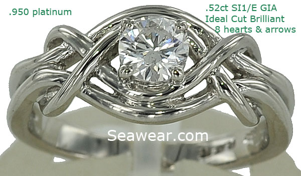 platinum and diamond Celtic engagement ring