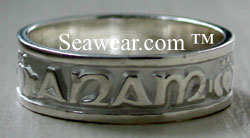 white gold gaelic ring